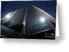 Glass Office Building Greeting Card