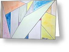 Glass-scrapers Greeting Card