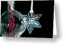 Glass Star Decoration Greeting Card