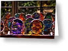 Glass Symphony Greeting Card by David Patterson