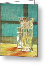 Glass Vase - Still Life Greeting Card