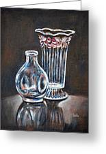 Glass Vases-still Life Greeting Card
