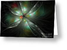 Glassworks Fractal Greeting Card