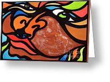 Glaze And Glances Greeting Card