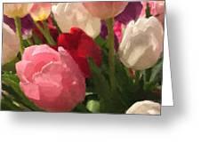 Glazed Tulip Bouquet Greeting Card