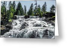 Glen Alpine Falls 7 Greeting Card