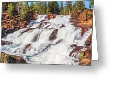 Glen Alpine Falls In Early Morning Light Greeting Card