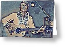 Glen Campbell Abstract Greeting Card