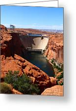 Glen Canyon Dam - Arizona Greeting Card