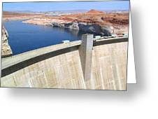 Glen Canyon Dam Greeting Card by Will Borden