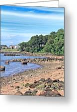 Glen Cove Rocky Beach Greeting Card