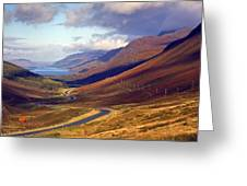Glen Docharty And Loch Maree Greeting Card