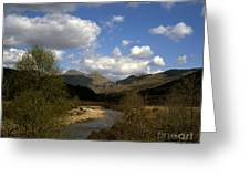 Glen Strontian And The River Strontian Sunart Western Highlands Scotland Greeting Card