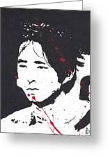 Glenn from the walking dead shower curtain for sale by george robert glenn from the walking dead greeting card m4hsunfo