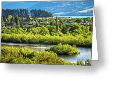 Glenorchy Lagoon At Golden Hour, New Zealand Greeting Card