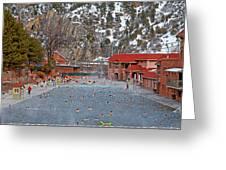 Glenwood Springs Hot Springs In Winter Greeting Card