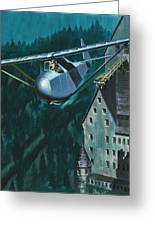 Glider Escape From Colditz Castle Greeting Card