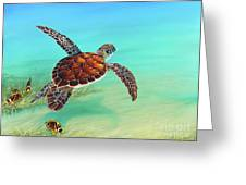 Gliding Through The Sea Greeting Card