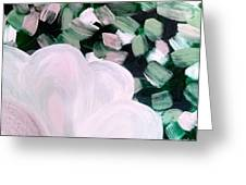 Glimmering Petals Greeting Card