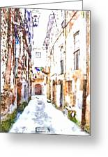 Glimpse Away With The Town Hall Greeting Card