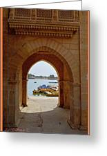 Glimpse Of Gadisar Lake Greeting Card