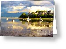 Glistening Cove At Low Tide Greeting Card