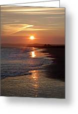 Glistening Ocean Sunset In California Greeting Card