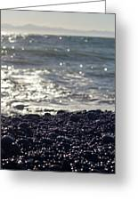Glistening Rocks And The Ocean Greeting Card