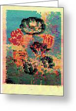 Glitched Tulips Greeting Card