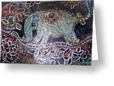 Glitter Girl Elephant Walking In My Dream  Greeting Card