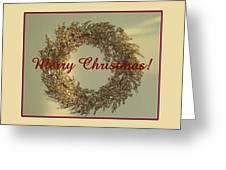 Glittery Wreath Greeting Card