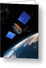 Global Positioning System Satellite In Orbit Greeting Card