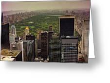 Gloomy Central Park Greeting Card