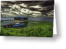 Gloomy Day By The Lake Greeting Card