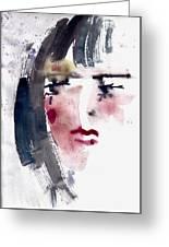 Gloomy Woman  Greeting Card