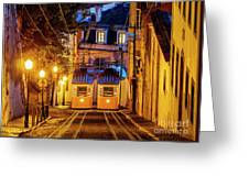 Gloria Funicular, Lisbon, Portugal Greeting Card