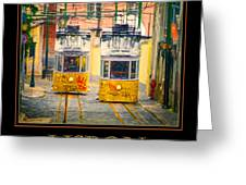 Gloria Funicular Lisbon Poster Greeting Card