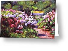 Glorious Blooms Greeting Card by David Lloyd Glover