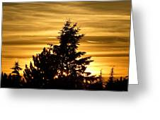 Glorious Guildford Sunset Greeting Card