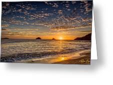 Glorious Playa Sunset Greeting Card