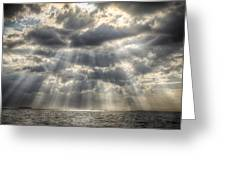Glorious Rays Of The Heavens Greeting Card