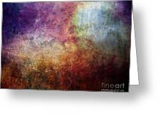 Glory Oil Abstract Painting Greeting Card