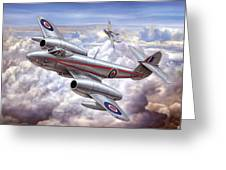 Gloster Meteor Greeting Card