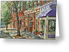 Gloucester Around Town Greeting Card by Sharon Jordan Bahosh