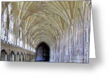 Gloucester Cathedral Cloisters Greeting Card