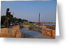 Gloucester Waterfront Gloucester Harbor Greeting Card