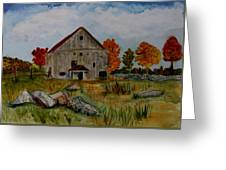 Glover Barn In Autumn Greeting Card
