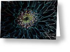 Glow Edge Flower Greeting Card