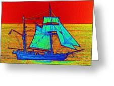 Glow Ship 3 Photograph Greeting Card