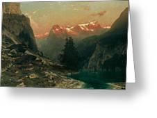 Glowing Alps Greeting Card